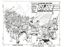 G. I. Joe order of battle double cover Comic Art